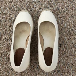Really cute and clean J Crew espadrilles wedges